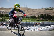 Women Elite #309 (SHAW Mikalyn) USA at the 2018 UCI BMX World Championships in Baku, Azerbaijan.