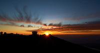 Sunset over Haleakala Satellite Tracking Station from Pu'U'Ula'Ula peak in Haleakala National Park, Maui Hawaii. Image taken with a Nikon D3x and 24 mm f/3.5 PC-E lens (ISO 100, f/16, 1/10 sec). Original image, no HDR