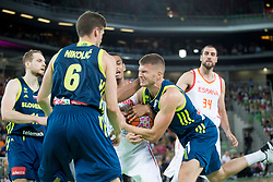 Edo Muric of Slovenia during basketball match between Slovenia and Spain in Round #5 of FIBA Basketball World Cup 2019 European Qualifiers, on June 28, 2018 in SRC Stozice, Ljubljana, Slovenia. Photo by Urban Urbanc / Sportida