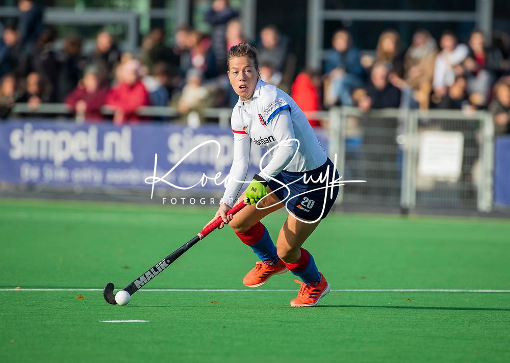AMSTELVEEN - Sarah Jaspers (SCHC)  tijdens de competitie hoofdklasse hockeywedstrijd dames, Pinoke-SCHC (1-8) . COPYRIGHT KOEN SUYK