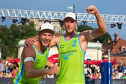 Florian Schnetzer and Michael Murauer of Austria at Beach Volleyball Challenge Ljubljana 2014, on August 2, 2014 in Kongresni trg, Ljubljana, Slovenia. Photo by Matic Klansek Velej / Sportida.com