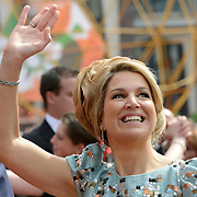 Koningsdag 2014 in Amstelveen, het vieren van de verjaardag van de koning. / Kingsday 2014 in Amstelveen, celebrating the birthday of the King. <br /> <br /> <br /> Op de foto / On the photo:  Koningin Maxima / Queen Maxima