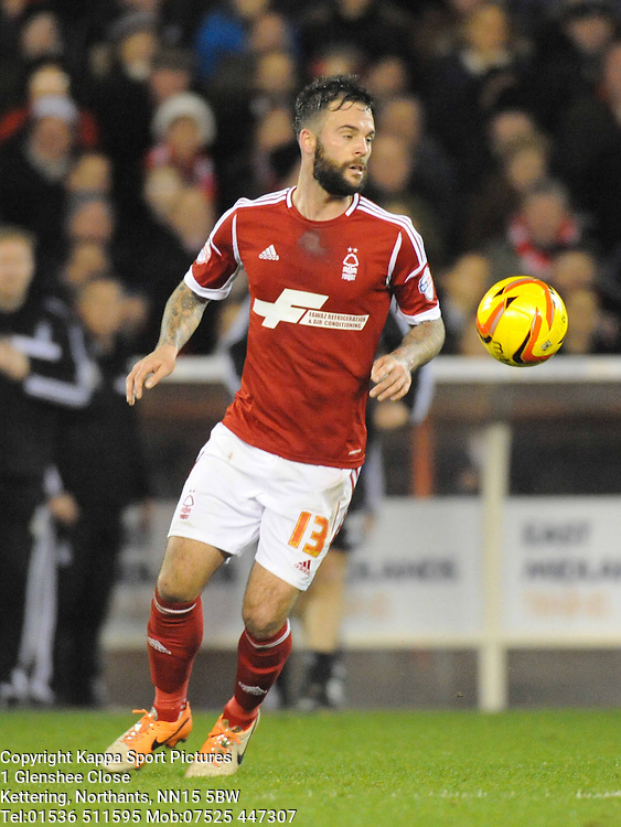 DANNY FOX, NOTTINGHAM FOREST, Nottingham Forest v Leicester City, City Ground Nottingham,  Sky Bet Championship, 19th Febuary 2014