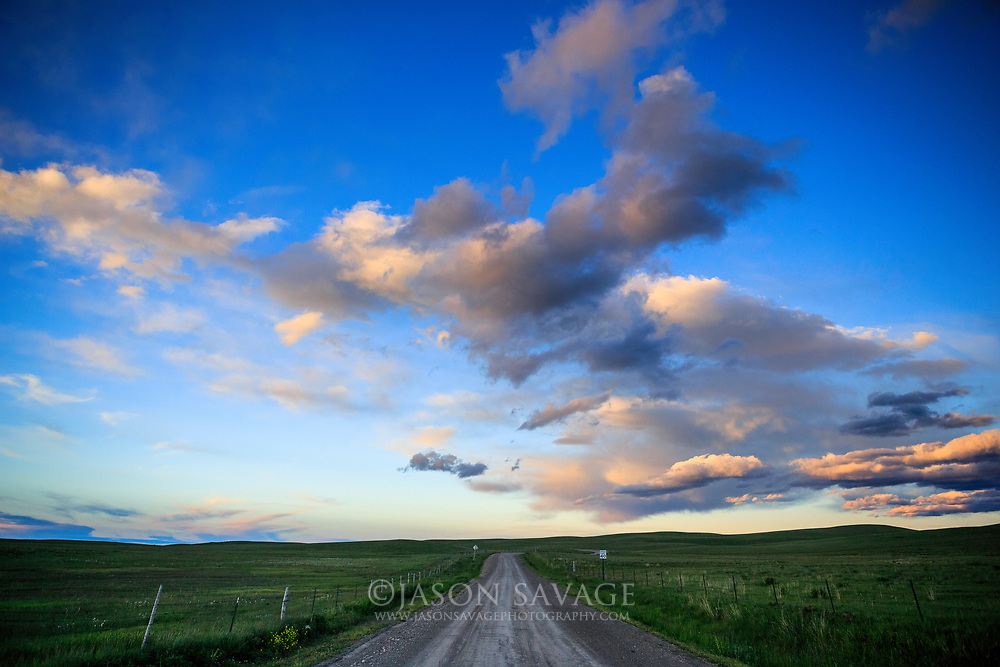 Montana Backroad, Rocky Mountain Front area.