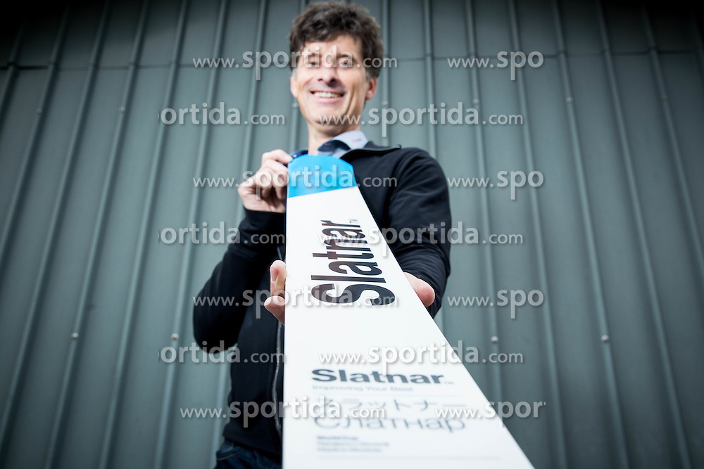 Peter Slatnar, CEO of Slatnar Carbon company presenting Ski jumping equipment and first model of new line of Ski jumping skis for FIS World Cup, on May 20, 2016 in Cerklje na Gorenjskem, Slovenia. Photo by Vid Ponikvar / Sportida