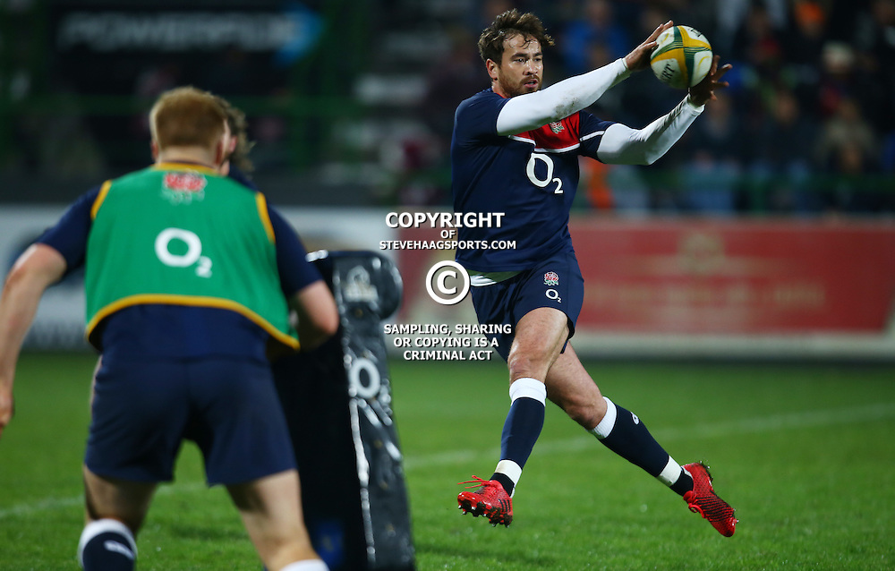 "George, SOUTH AFRICA, 17,June, 2016 -Danny Cipriani of the England Saxons during the South Africa ""A"" v England Saxons - 2nd match,Outeniqua Park in George,Southern Cape  South Africa (Photo by Steve Haag) - Images for Getty Images  - England Saxons."