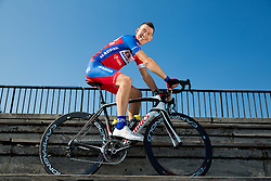 Kristjan Fajt of Cycling Team Adria Mobil poses for a portrait session ahead of the 2014 road season on February 25, 2014 in Cesca vas at Novo mesto, Slovenia. Photo by Vid Ponikvar / Sportida