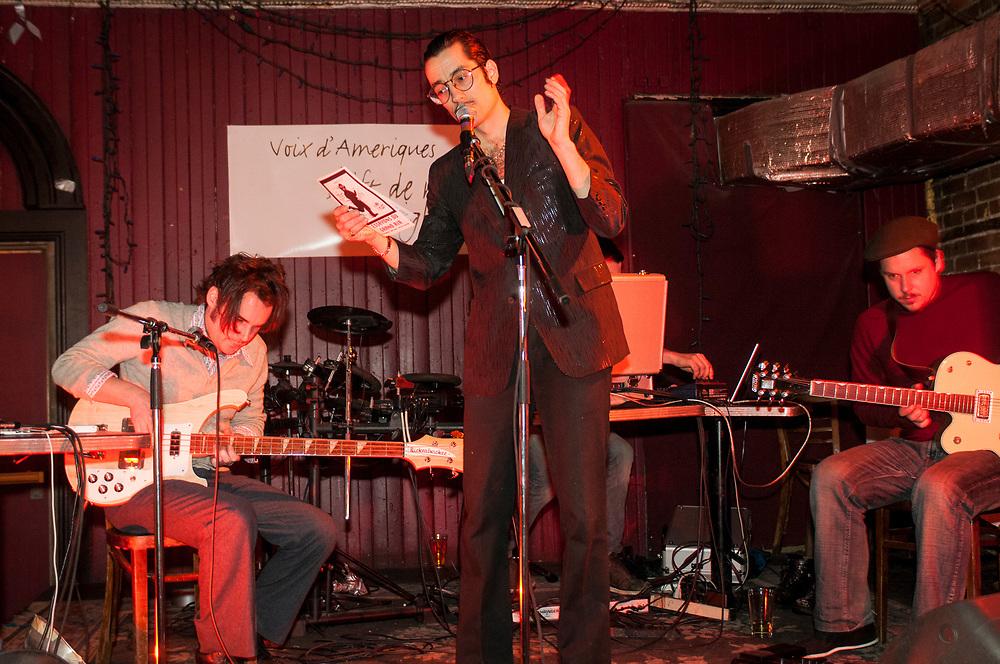 5 à 7 bandpoésie à la Casa. K.A.N.T.N.A.G.A.N.O.: Gilles Robert, Jonathan Parant, Alexandre St-Onge, Alexander Wilson.  6 février 2008 6 février 2008