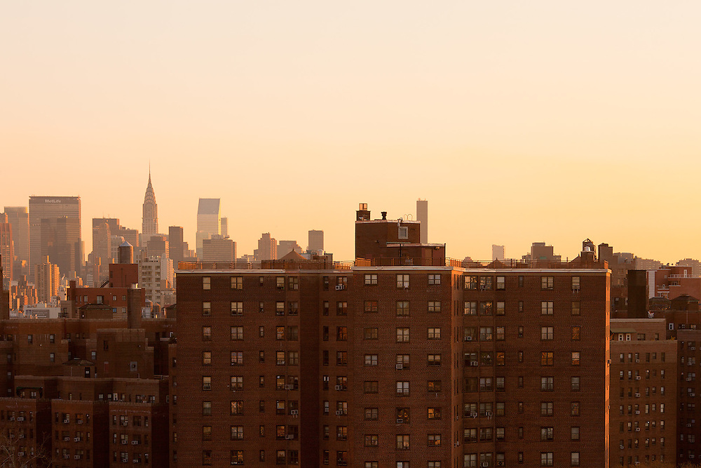 Housing projects at downtown Manhattan, New York City, USA