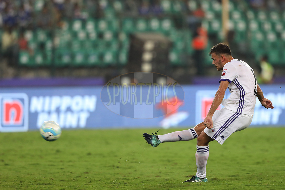 Jonatan Lucca of FC Pune City during match 46 of the Hero Indian Super League between Chennaiyin FC and FC Pune City held at the Jawaharlal Nehru Stadium, Chennai India on the 13th January 2018<br /> <br /> Photo by: Arjun Singh  / ISL / SPORTZPICS