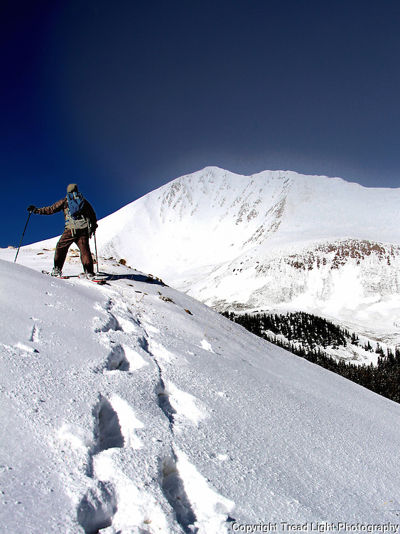 The first of 4 attempts (3 aborted, 1 successful) on Mt. Antero that derailed due to weather.  In this case the hiking tea went to sleep two days earlier having scouted a bald summit only to find fresh powder, avalanche loaded conditions the day of the climb.  Even snowshoes were not enough to overcome the risky conditions.