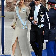 NLD/Amsterdam/20130430 - Inhuldiging Koning Willem - Alexander, princess Victoria and partner Prince Daniel