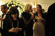 SALLY NEWALL; ROISIN HENRY; ORLA MURTAGH, The Cartier Racing Awards. The Ballroom, Dorchester hotel. Park Lane. London. 15 November 2011. <br /> <br />  , -DO NOT ARCHIVE-© Copyright Photograph by Dafydd Jones. 248 Clapham Rd. London SW9 0PZ. Tel 0207 820 0771. www.dafjones.com.