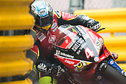 John MCGUINNESS, GBR, Tak Chun Group by PBM DUCATI 1199 PANIGALE<br /> <br /> 65th Macau Grand Prix. 14-18.11.2018.<br /> Suncity Group Macau Motorcycle Grand Prix - 52nd Edition.<br /> Macau Copyright Free Image for editorial use only