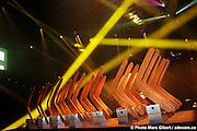 Photographies du gala de remise des prix BOOMRANG 2008 organisé par infopresse et qui récompense les meilleures communications interactives et les sites Web conçus par des entreprises québécoises -  La Tohu / Montreal / Canada / 2008-12-04, © Photo Marc Gibert / adecom.ca - www.adecom.ca