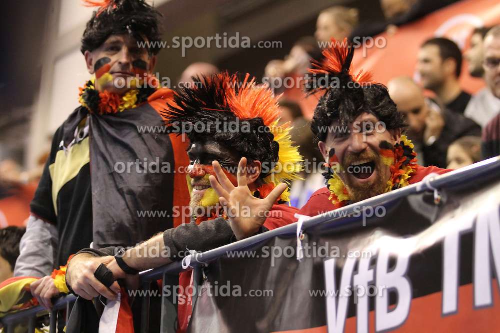 15.01.2013 Granollers, Spain. IHF men's world championship, prelimanary round. Picture show   german suporters during game between Germany v Argentina at Palau d'esports de Granollers / Sportida Photo Agency