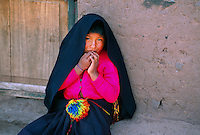 Quechua Indian girl, Taquile Island, Lake Titicaca, Peru