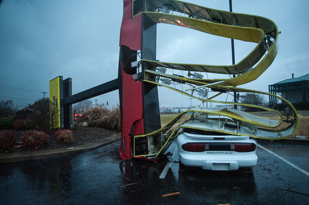 Tornado damage in Gassville, Arkansas, 2/5/2008.
