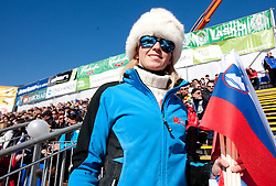 Fans during  Men's Giant Slalom of FIS Ski World Cup Alpine Kranjska Gora, on March 5, 2011 in Vitranc/Podkoren, Kranjska Gora, Slovenia.  (Photo By Vid Ponikvar / Sportida.com)