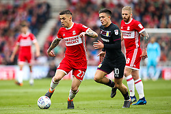 Muhamed Besic of Middlesbrough goes past Jack Grealish of Aston Villa - Mandatory by-line: Robbie Stephenson/JMP - 12/05/2018 - FOOTBALL - Riverside Stadium - Middlesbrough, England - Middlesbrough v Aston Villa - Sky Bet Championship