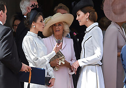 Queen Letizia of Spain, Camilla, Duchess of Cornwall, Catherine, Duchess of Cambridge attends Order of the Garter service at St George's Chapel on June 17, 2019 in Windsor, United Kingdom. Photo by Archie Andrews/ABACAPRESS.COM