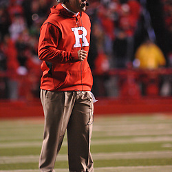 Oct 16, 2009; Piscataway, NJ, USA; Rutgers head coach Greg Schiano looks on during first half NCAA football action between Rutgers and Pittsburgh at Rutgers Stadium.
