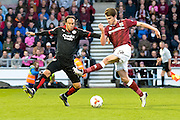 Northampton Town Striker John Marquis during the Sky Bet League 2 match between Northampton Town and Crawley Town at Sixfields Stadium, Northampton, England on 19 April 2016. Photo by Dennis Goodwin.