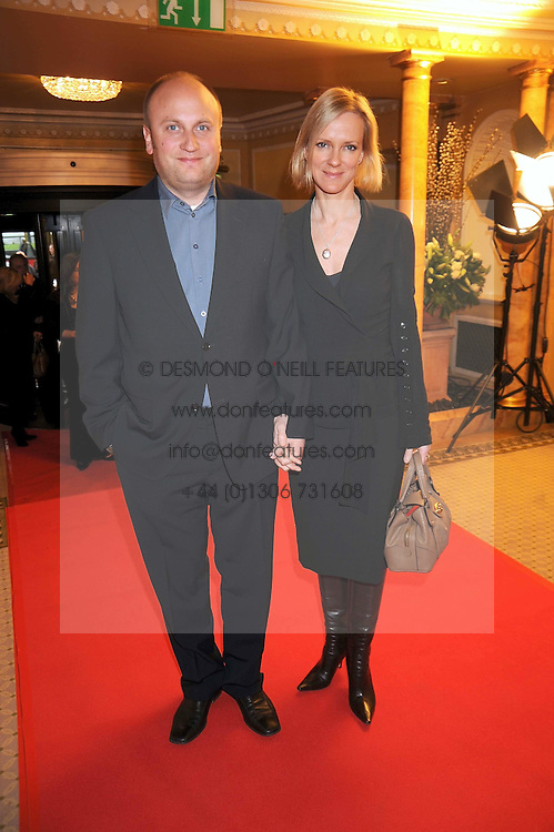 Actress HERMONIE NORRIS and her husband SIMON WHEELER at the 2009 South Bank Show Awards held at The Dorchester, Park Lane, London on 20th January 2009.