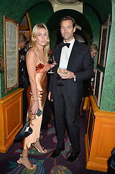 PATRICK GRANT and CAMILLE CHARRIERE at a dinner to celebrate the 125th anniversary of the Dog's Trust held at Annabel's, Berkeley Square, London on 1st November 2016.
