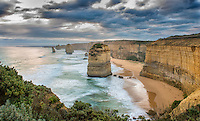 Twelve Apostles at sunset. Port Campbell National Park, Victoria, Australia.