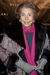 File photo - Liliane Bettencourt attending the Exhibition Launch for Bvlgari 125th Anniversary Celebration (125 years of italian splendour) held at the Grand Palais on December 9, 2010 in Paris, France. Liliane Bettencourt has died aged 94 it was announced on September 21, 2017. Bettencourt was the richest person in France and the third-richest woman in the world with a net worth of $40 billion. She was the sole heir to L'Oreal, the largest cosmetics company in the world, which was started by her father, and a large shareholder in Nestle. Nearly a decade ago a trial forced Liliane's personal business into the public light, laid bare her obsession with a flashy homosexual photographer whom she turned into a billionaire, destroyed her relationship with her daughter, turned a long time family butler against her, and, finally, turned the dowager heiress into even more of a recluse than she had been before. Photo by Nicolas Genin/ABACAPRESS.COM
