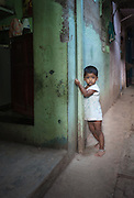 Boy in an Alleyway - Dharavi, Mumbai, India