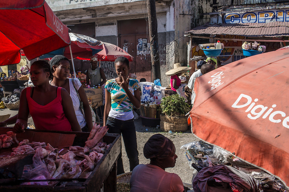A street market on Friday, December 19, 2014 in Port-au-Prince, Haiti.