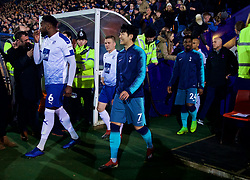 BIRKENHEAD, ENGLAND - Friday, January 4, 2019: Tottenham Hotspur's Son Heung-min walks out before the FA Cup 3rd Round match between Tranmere Rovers FC and Tottenham Hotspur FC at Prenton Park. (Pic by David Rawcliffe/Propaganda)