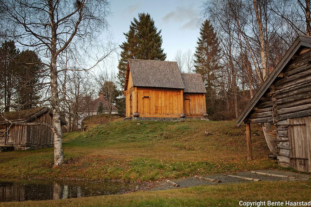 Haltdalen stavkirke. Haltdalen stave church, folkemuseet på Sverresborg, Trondheim.