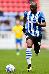 Marc-Antoine Fortune of Wigan Athletic attacks - Photo mandatory by-line: Matt McNulty/JMP - Mobile: 07966 386802 - 06/04/2015 - SPORT - Football - Wigan - DW Stadium - Wigan Athletic v Derby County - SkyBet Championship