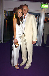 ANDREW FLINTOFF and his wife RACHEL at The Summer Ball in Berkeley Square , Londin W1 in aid of the Prince's Trust on 6th July 2006.<br />