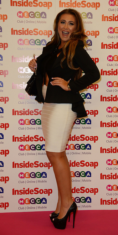 Inside Soap Awards.<br /> Lauren Goodger arrives for the Inside Soap Awards, Ministry of Sound, London, United Kingdom,<br /> Monday, 21st October 2013. Picture by Andrew Parsons / i-Images