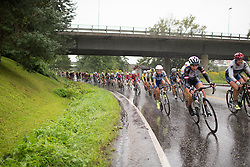 Alicia Arzuffi (ITA) of Lensworld Zannata Cycling Team rides mid-pack during the 76,1 km first stage of the 2016 Ladies' Tour of Norway women's road cycling race on August 12, 2016 between Halden and Fredrikstad, Norway. (Photo by Balint Hamvas/Velofocus)