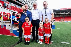 Mascots with Crystal Palace manager Roy Hodgson - Rogan/JMP - 27/07/2019 - Ashton Gate Stadium - Bristol, England - Bristol City v Crystal Palace - Pre-Season Friendly.