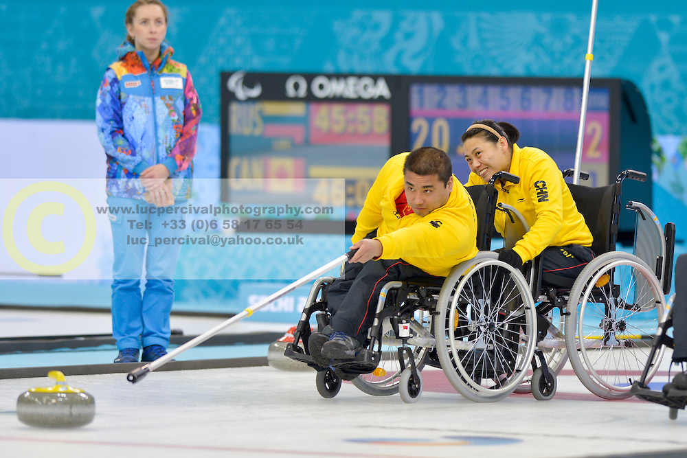 Haito Wang, Guangqin Xu, Wheelchair Curling Finals at the 2014 Sochi Winter Paralympic Games, Russia