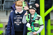Young FGR fans during the EFL Sky Bet League 2 match between Forest Green Rovers and Exeter City at the New Lawn, Forest Green, United Kingdom on 4 May 2019.