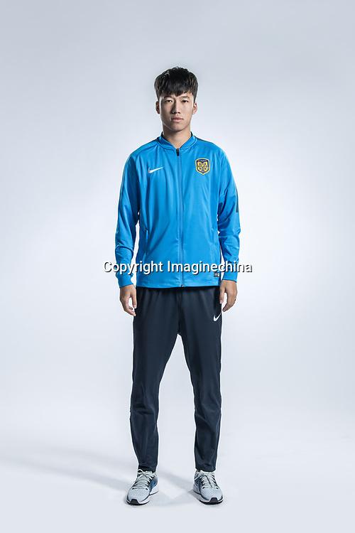 **EXCLUSIVE**Portrait of Chinese soccer player Zhang Xiaobin of Jiangsu Suning F.C. for the 2018 Chinese Football Association Super League, in Nanjing city, east China's Jiangsu province, 23 February 2018.