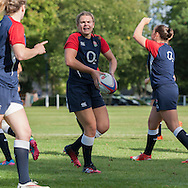 Ellena Perry warming up, U20 England Women v U20 Canada Women at Trent College, Derby Road, Long Eaton, England, on 26th August 2016