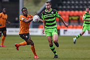Forest Green Rovers Haydn Hollis controls the ball during the EFL Sky Bet League 2 match between Barnet and Forest Green Rovers at The Hive Stadium, London, England on 7 April 2018. Picture by Shane Healey.