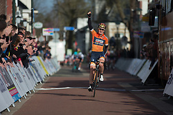 Amy Pieters (NED) of Boels-Dolmans Cycling Team wins Stage 1b of the Healthy Ageing Tour - a 77.6 km road race, starting and finishing in Grijpskerk on April 5, 2017, in Groeningen, Netherlands.