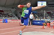 Darlan Romani (BRA) places third in the shot put at 70-10½ (21.60m) during the IAAF Doha Diamond League 2019 at Khalifa International Stadium, Friday, May 3, 2019, in Doha, Qatar (Jiro Mochizuki/Image of Sport)
