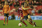 Kevin McDonald (Wolverhampton Wanderers) runs with the ball during the Sky Bet Championship match between Middlesbrough and Wolverhampton Wanderers at the Riverside Stadium, Middlesbrough, England on 4 March 2016. Photo by Mark P Doherty.