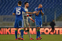 Paolo Cannavaro Sassuolo commosso al termine della sua ultima partita da professionista. Paolo Cannavaro moved at the end of his last career match . Andrea Consigli, Francesco Acerbi. <br /> Roma 30-12-2017 Stadio Olimpico Football Calcio Serie A 2017/2018 AS Roma - Sassuolo Foto Antonietta Baldassarre / Insidefoto