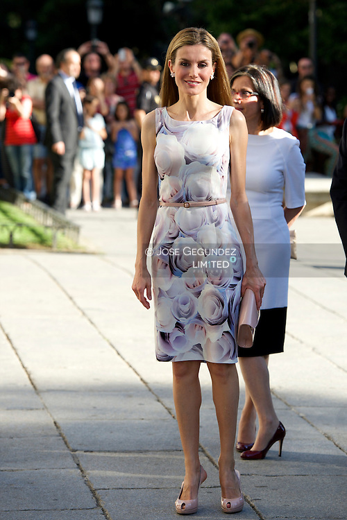 Queen Letizia of Spain attends Opening of the exhibition 'El Greco and modern painting' at El Prado Museum on June 23, 2014 in Madrid
